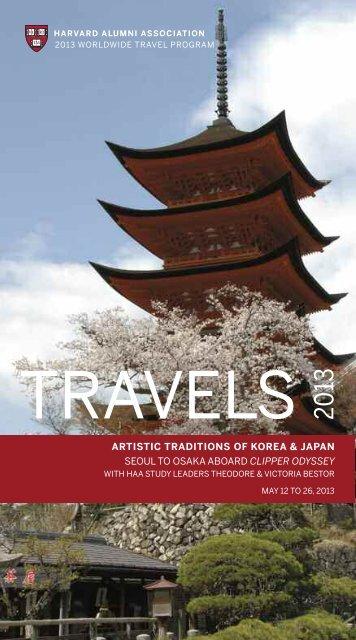 artistic traditions of korea & japan seoul to - Harvard Alumni ...