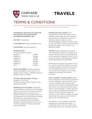 Terms and Conditions - Harvard Alumni
