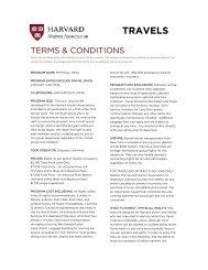 TRAVELS - Harvard Alumni