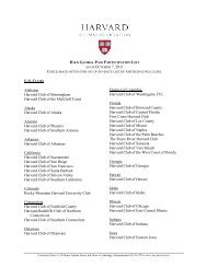 haa global membership program participation list - Harvard Alumni ...