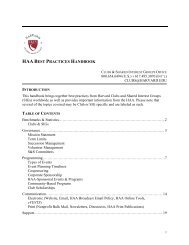 haa best practices handbook - Harvard Alumni - Harvard University