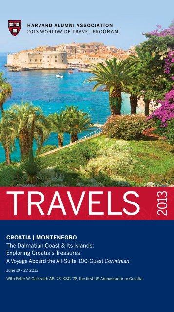 CROATIA   MONTENEGRO The Dalmatian Coast ... - Harvard Alumni