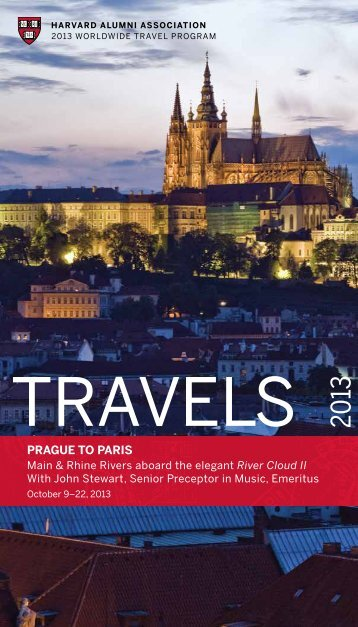 PRAGUE TO PARIS - Harvard Alumni - Harvard University