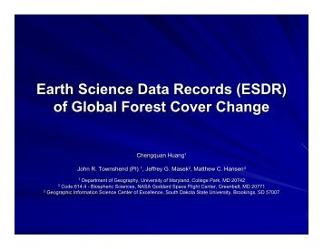 of Global Forest Cover Change - Landsat - USGS