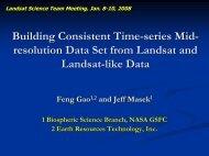 presentation - Landsat