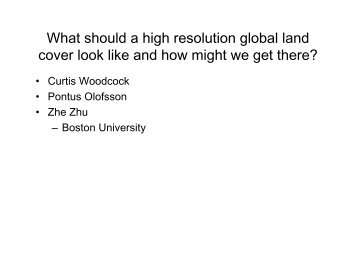 What should a high resolution global land cover look like ... - Landsat