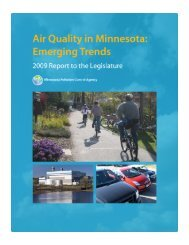 Air Quality in Minnesota: Emerging Trends — 2009 Report