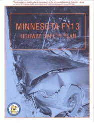 Minnesota's Highway Safety Plan for Federal Fiscal Year 2002