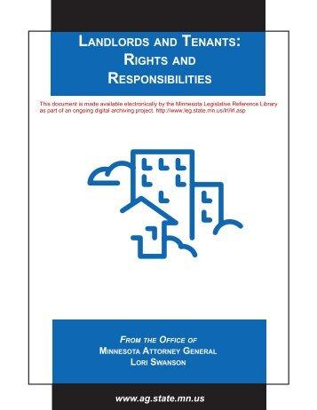 landlords and tenants - Minnesota State Legislature