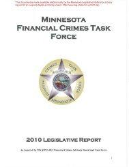 minnesota financial crimes task force - Minnesota State Legislature