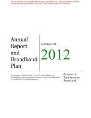 Annual Report and Broadband Plan - Minnesota State Legislature