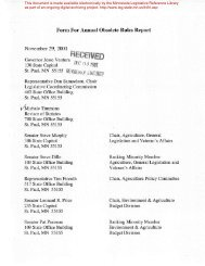 Form For Annual Obsolete Rules Report November 29, 2001