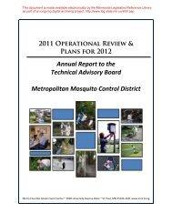metropolitan mosquito control district - Minnesota State Legislature