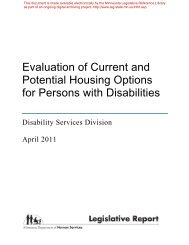 Evaluation of Current and Potential Housing Options for Persons ...