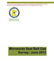 Minnesota Seat Belt Use Survey: June 2012 - Minnesota State ...