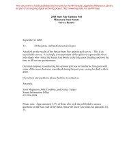 2008 State Fair Opinion Poll Minnesota State Senate Survey Results ...
