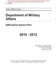 epartm nt of ff ir ilitary 2010 - 2012 - Minnesota State Legislature