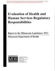 Evaluation of Health and Human Services Regulatory Responsibilities
