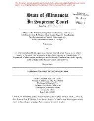 Petition for Writ of Quo Warranto - Minnesota State Legislature