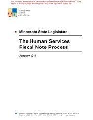 The Human Services - Minnesota State Legislature