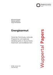Energiearmut: Stand der Forschung, nationale ... - Wuppertal Institut