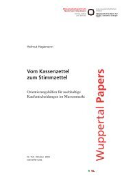 WP150.pdf - Publication Server of the Wuppertal Institute ...