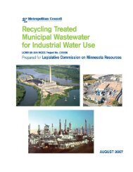 Recycling Treated Municipal Wastewater for Industrial Water Use