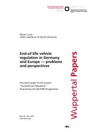 End-of-life vehicle regulation in Germany and Europe - Publication ...