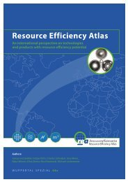 Resource Efficiency Atlas - Publication Server of the Wuppertal ...