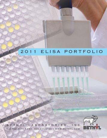 2011 ELISA PORTFOLIO - BioNova