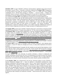 Ecco la cronistoria nella versione del Comune - Corriere del ...