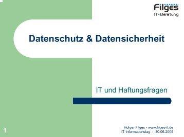 Datenschutz & Datensicherheit