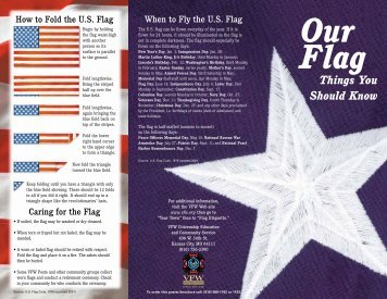 Our Flag - Things You Should Know - Lake Sands District