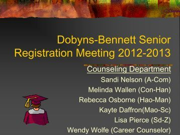 required - Dobyns-Bennett High School - Website