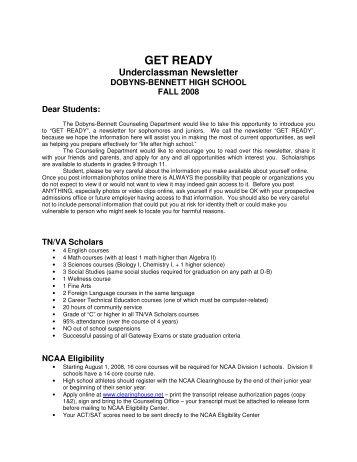 GET READY - Dobyns-Bennett High School - Website