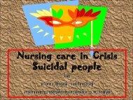 Nursing care in Crisis Suicidal people - โรงพยาบาลราชวิถี