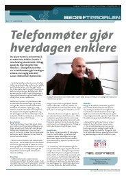 Telefonmøter gjør hverdagen enklere - Bedriftprofilen