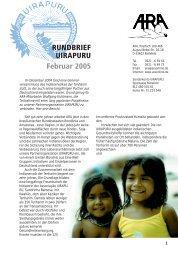 RUNDBRIEF UIRAPURU Februar 2005 - ARA