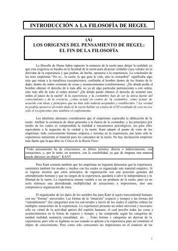 Unidad 09. Introducción a Hegel