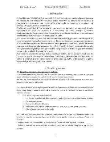 """Descargar documento """"Normas de Convivencia"""" en PDF"""