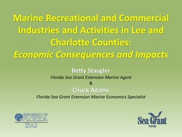 Marine Recreational and Commercial Industries and Activities in ...