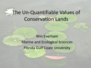 Non-Economic Values of Public Conservation Lands - Florida Gulf ...