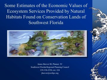 Some Estimates of the Economic Value of Ecosystem Services ...