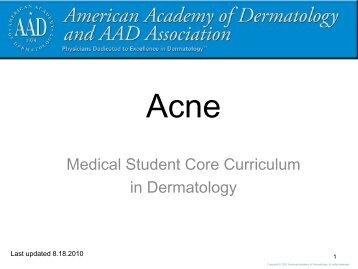 Acne? - Dermatology