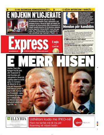 E NDJEKIN N'LIGJERATE - Gazeta Express
