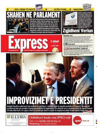 IMPROVIZIMET E PRESIDENTIT - Gazeta Express