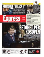 RENDOHET ?BLLACA II? - Gazeta Express