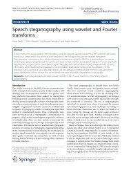 Speech steganography using wavelet and Fourier transforms
