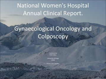 Gynaecologic Oncology and Colposcopy Critique - National ...