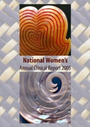 2005 - National Women's Hospital - Auckland District Health Board